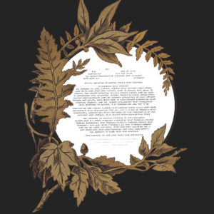 Autumn Harvest Wreath Ketubah