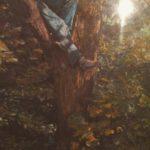 climb a tree oil painting ketubah